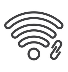 wifi hotspot line icon web and mobile vector image vector image
