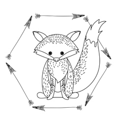 Fox animal cartoon design vector