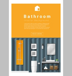 Interior design modern bathroom banner 6 vector