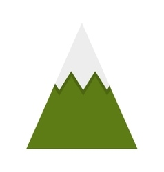 Mountain peak ice icon vector
