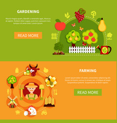 farming and gardening banners vector image
