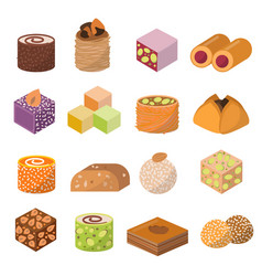 sweets dessert from east isolated food vector image