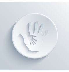 Modern hands light circle icon vector
