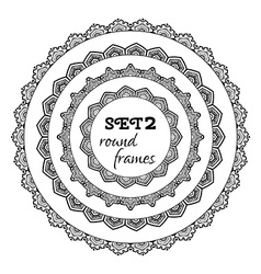 Set of geometric round frames vector