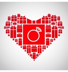 Heart of gifts vector