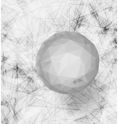 white Bubble with background vector image