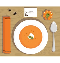 Pumpkin soup vector