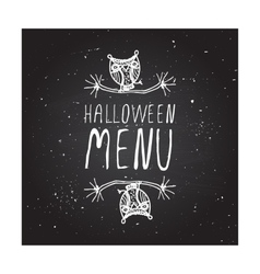 Halloween menu on chalkboard background vector