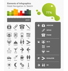 Navigation infographics vector