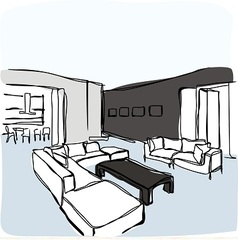 Interior of living room vector