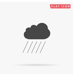 Rain simple flat icon vector