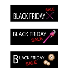 Repair tools kits on black friday banners vector