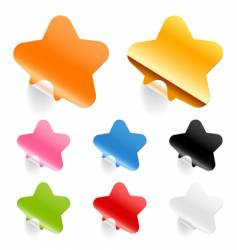 Stars stickers vector
