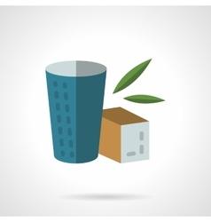 Herbal tea flat color design icon vector image