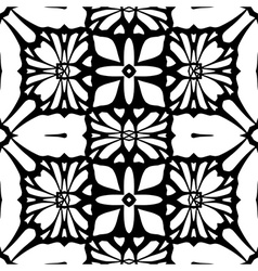 Floral lace background seamless black pattern vector