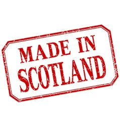 Scotland - made in red vintage isolated label vector