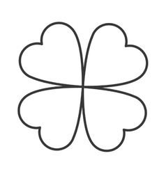 Lucky shamrock icon vector