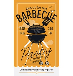 Bbq party poster vector