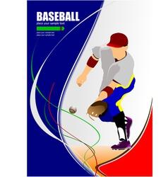 al 1008 baseball 02 vector image vector image