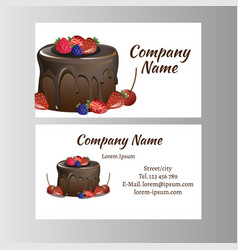 business card template for bakery business vector image