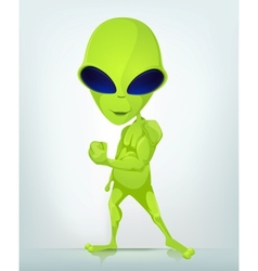 Cartoon Character ALIEN 033 CS5 vector image vector image