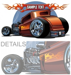 cartoon hotrod vector image