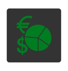 Currency pie chart icon vector