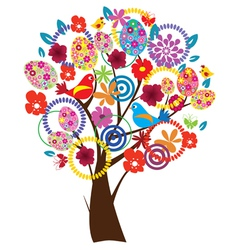 Easter beautiful tree vector
