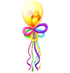 Fancy balloons in many colors vector