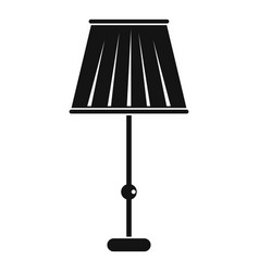Floor lamp icon simple style vector