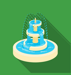 Fountain icon in flat style isolated on white vector