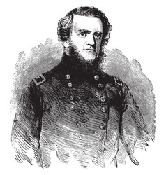 General john g foster vintage vector