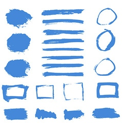 Grunge paint watercolor ink texture elements set vector