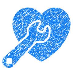 Heart repair grunge icon vector