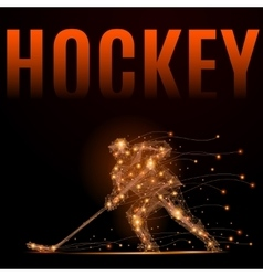 hockey player poly vector image
