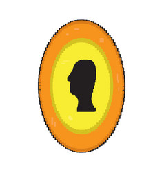 isolated pixelated coin vector image