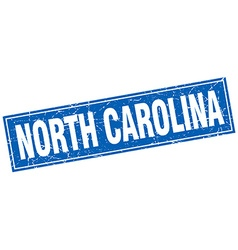 North carolina blue square grunge vintage isolated vector
