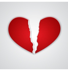 Ragged paper heart vector