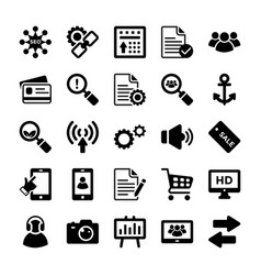 seo and digital marketing glyph icons 11 vector image