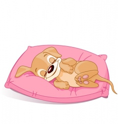 Sleeping puppy vector