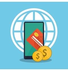 Smartphone of payment online design vector