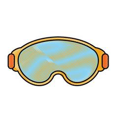 Snowboarding glasses design vector