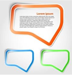 Speech bubbles as sticker vector image vector image