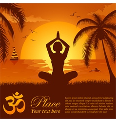 summer yoga pose vector image vector image