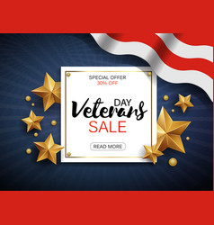 Veterans day sale banner template patriotic vector