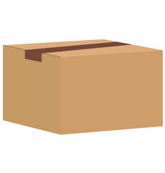 Brown closed carton delivery packaging box vector
