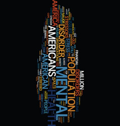 Mental health america text background word cloud vector
