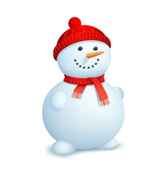 Snowman wearing scarf vector