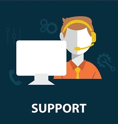 Support staff icon vector
