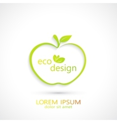 Green apple logo vector